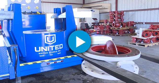 Test Bench | Butterfly Valve Testing | United Water Works, Inc
